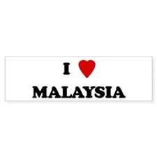 I Love Malaysia Bumper Bumper Sticker