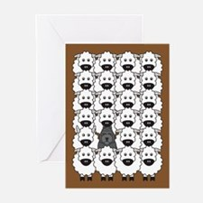 Bouvier and Sheep Greeting Cards (Pk of 20)