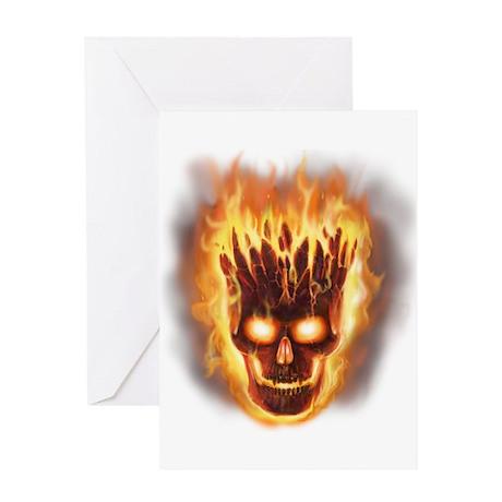 Volcanic Skull Greeting Card