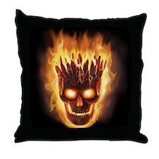 Volcanic Skull Throw Pillow