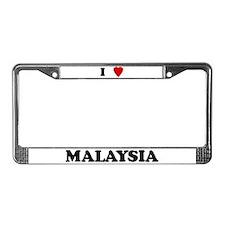 I Love Malaysia License Plate Frame