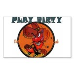 PLAY DIRTY Sticker (Rectangle)