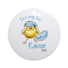 It's My First Easter '11 Ornament (Round)