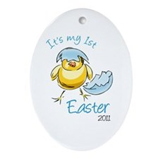It's My First Easter '11 Ornament (Oval)