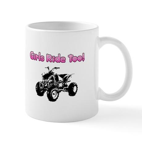 """Girls Ride Too"" Mug"