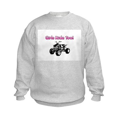 """Girls Ride Too"" Kids Sweatshirt"