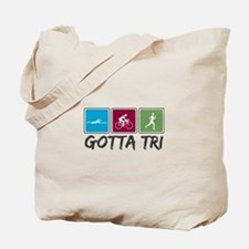 Gotta Tri (Triathlon) Tote Bag
