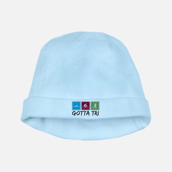 Gotta Tri (Triathlon) baby hat