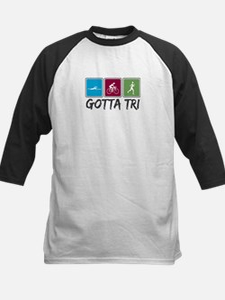 Gotta Tri (Triathlon) Kids Baseball Jersey