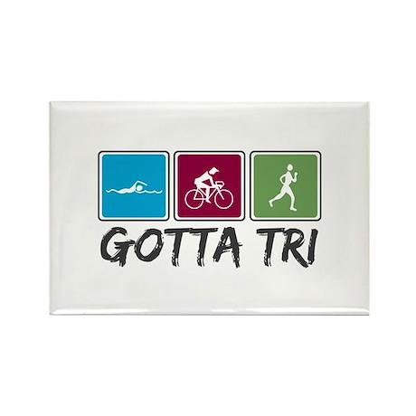 Gotta Tri (Triathlon) Rectangle Magnet