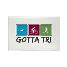 Gotta Tri (Triathlon) Rectangle Magnet (100 pack)