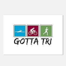 Gotta Tri (Triathlon) Postcards (Package of 8)
