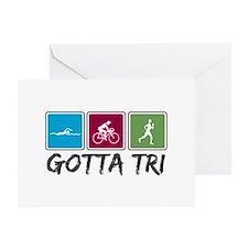 Gotta Tri (Triathlon) Greeting Card