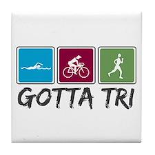 Gotta Tri (Triathlon) Tile Coaster