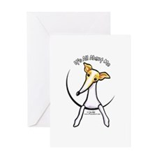 Italian Greyhound IAAM Greeting Card