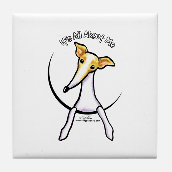 Italian Greyhound IAAM Tile Coaster