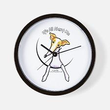 Italian Greyhound IAAM Wall Clock