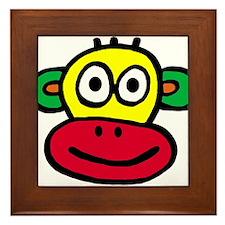 Yellow Red Monkey Framed Tile