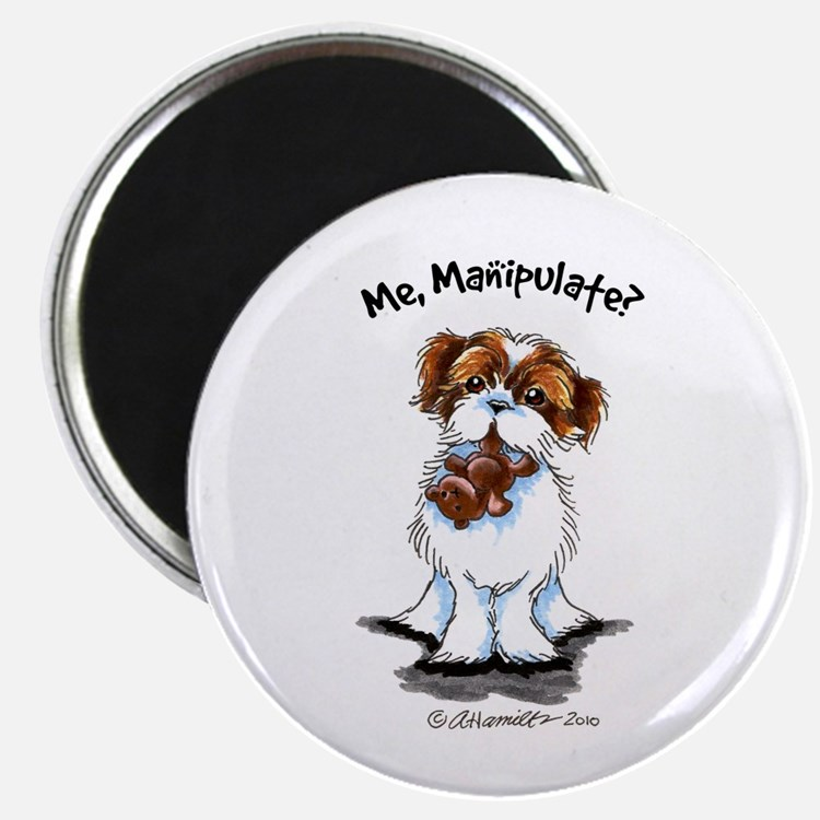 """Shih Tzu Manipulate 2.25"""" Magnet (100 pack)"""