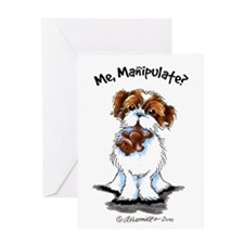 Shih Tzu Manipulate Greeting Card