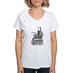 Steampunk baby Women's V-Neck T-Shirt