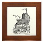 Steampunk baby Framed Tile