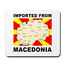 Mousepad with the Imported from Macedonia Map