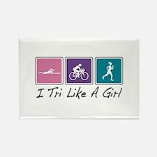 Tri Like A Girl (Triathlete) Rectangle Magnet (10