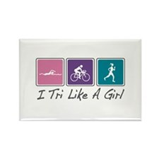 Tri Like A Girl (Triathlete) Rectangle Magnet (100