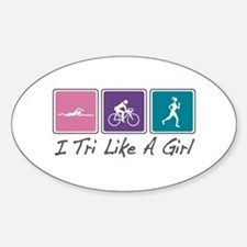 Tri Like A Girl (Triathlete) Decal