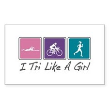 Tri Like A Girl (Triathlete) Decal