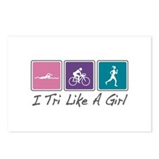 Tri Like A Girl (Triathlete) Postcards (Package of