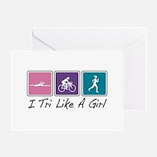 Tri Like A Girl (Triathlete) Greeting Card