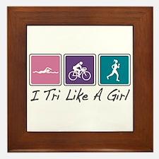 Tri Like A Girl (Triathlete) Framed Tile