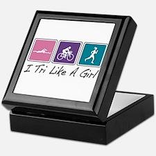 Tri Like A Girl (Triathlete) Keepsake Box
