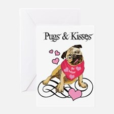 Pugs & Kisses Valentine Greeting Card