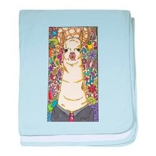 Cute Cow glass baby blanket
