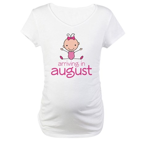 August Maternity Stick Girl Maternity T-Shirt
