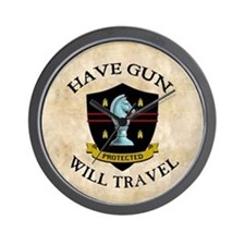 Have Gun Wall Clock