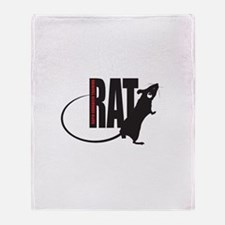 Funny Rats Throw Blanket