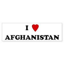 I Love Afghanistan Bumper Bumper Sticker