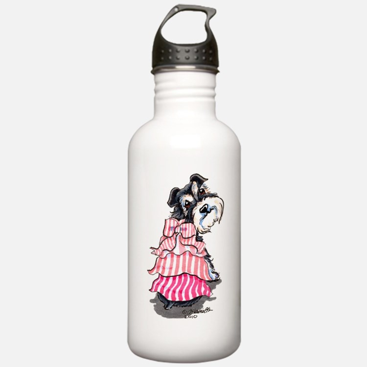 Girly Schnauzer Water Bottle