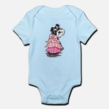 Girly Schnauzer Infant Bodysuit