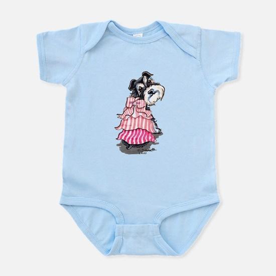 Girly Schnauzer Infant Bodysuit