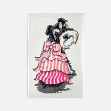 Girly Schnauzer Rectangle Magnet (100 pack)