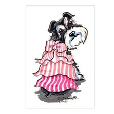 Girly Schnauzer Postcards (Package of 8)