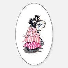 Girly Schnauzer Sticker (Oval)
