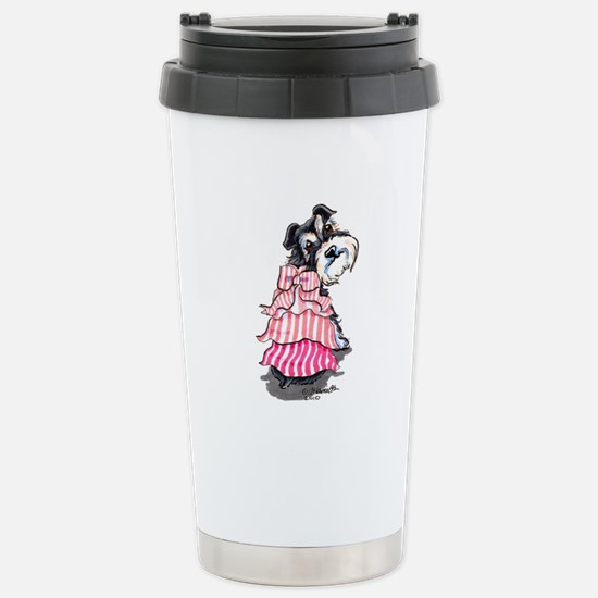 Girly Schnauzer Stainless Steel Travel Mug