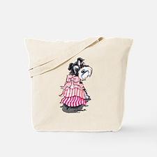 Girly Schnauzer Tote Bag