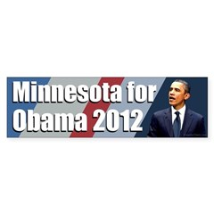 Minnesota for Obama 2012 bumper sticker